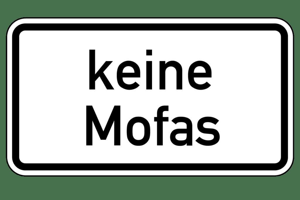 VZ 1012-33: Keine Mofas