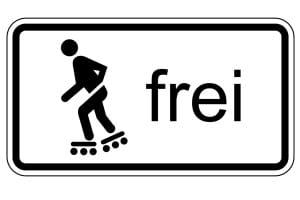 VZ 1020-13: Inline-Skaten und Rollschuhfahren frei