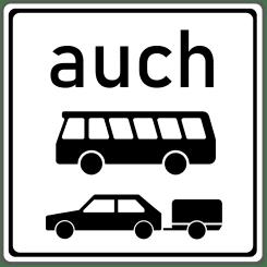VZ 1060-32: auch Kraftomnibusse und Pkw mit Anhängern