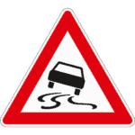 Verkehrszeichen 114: Schleuder- & Rutschgefahr