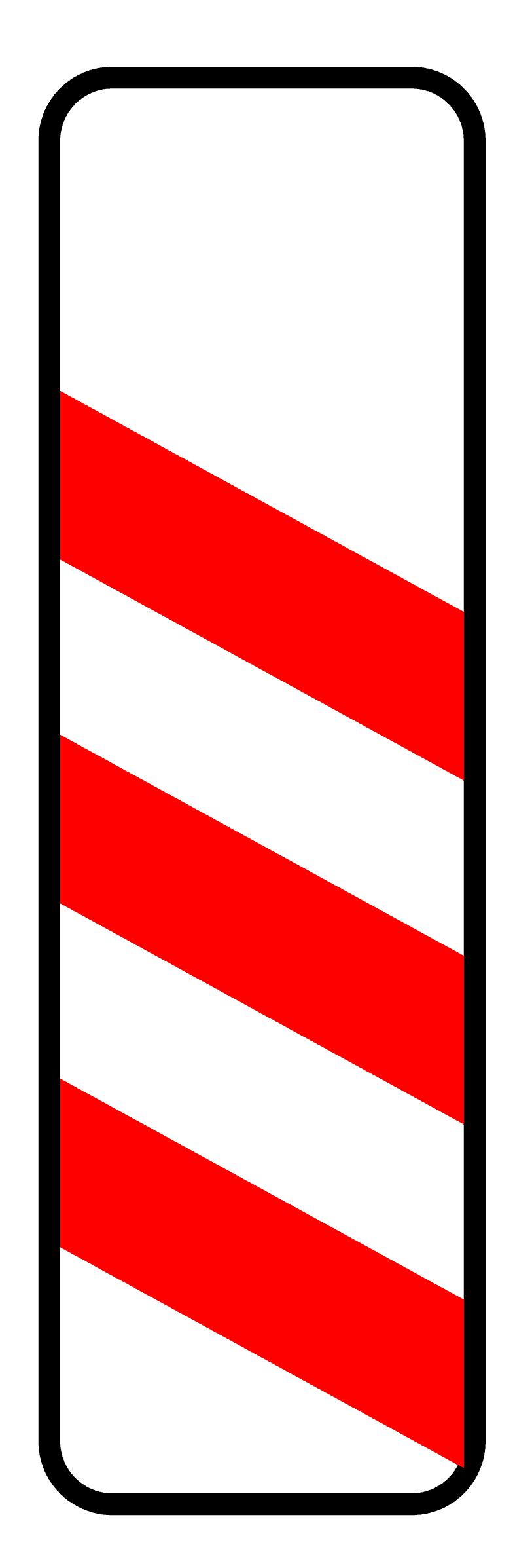 Verkehrszeichen 156: dreistreifige Bake