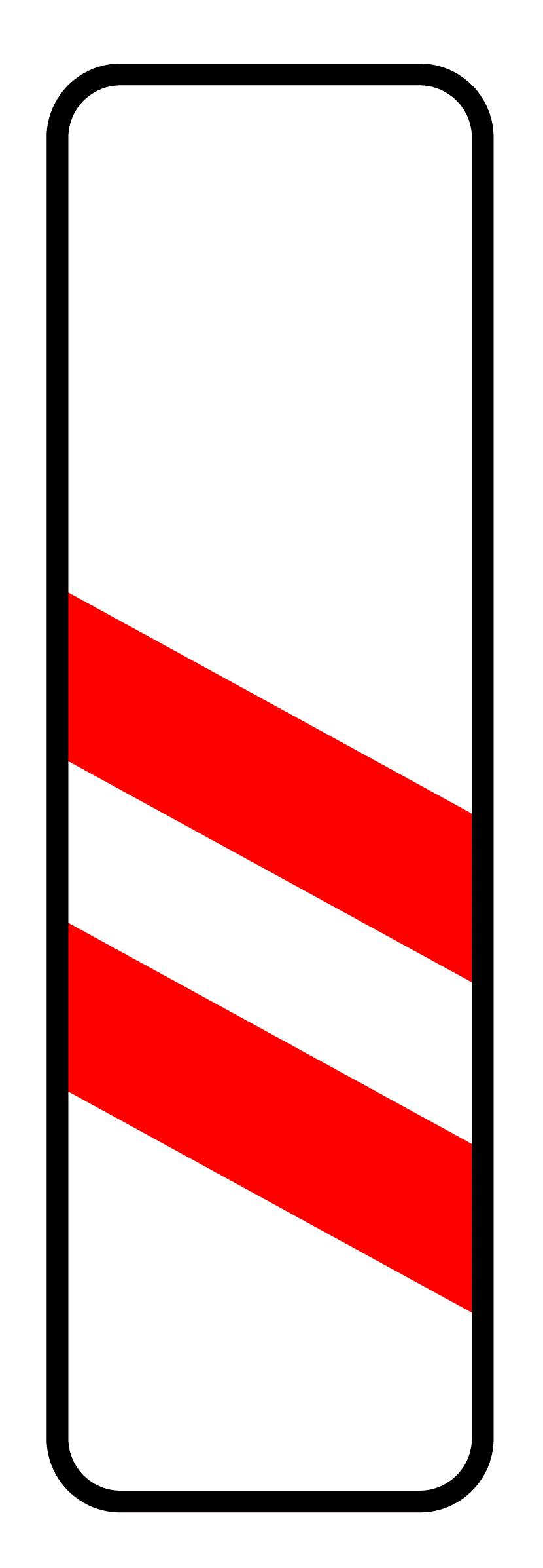 Verkehrszeichen 159: zweistreifige Bake