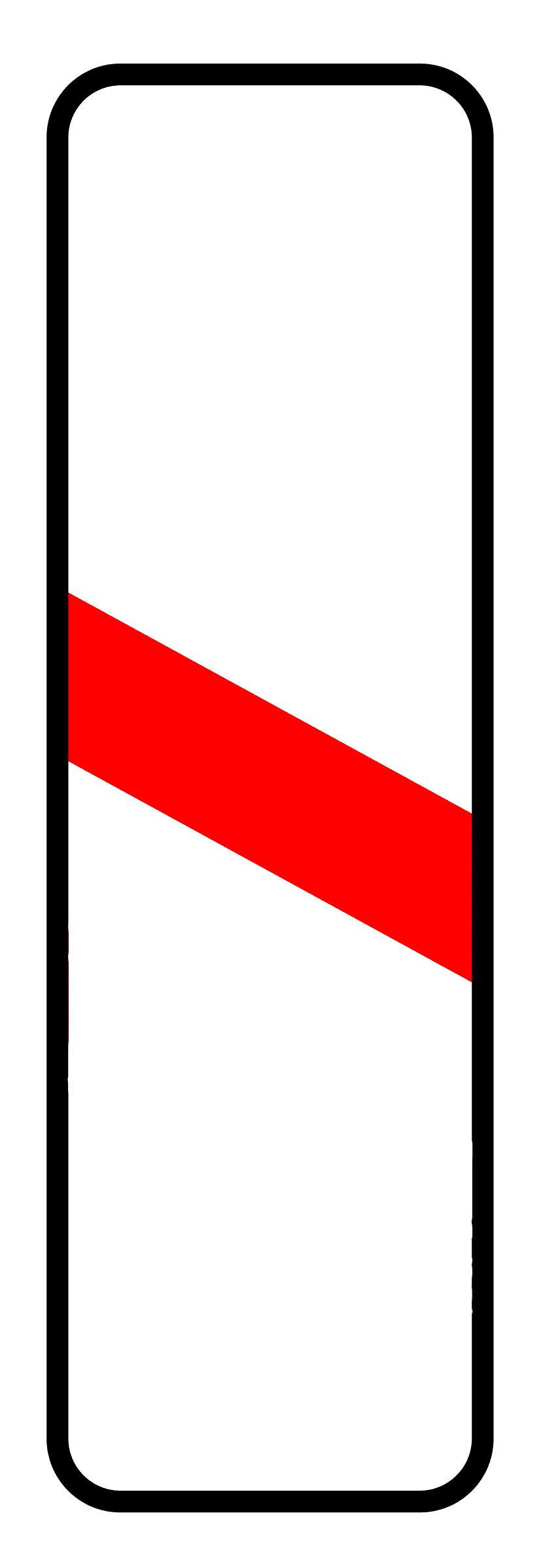 Verkehrszeichen 162: einstreifige Bake