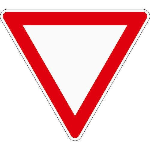 Verkehrszeichen 205: Vorfahrt gewähren