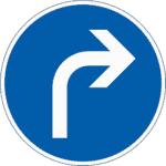 Zeichen 209: Vorgeschriebene Fahrtrichtung