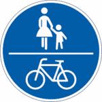 Zeichen 240: Gemeinsamer Weg für Fußgänger und Radfahrer