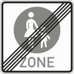 Zeichen 242-2: Ende einer Fußgängerzone