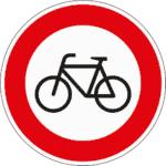 Zeichen 254: Verbot für Fahrradfahrer