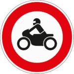 Zeichen 255: Verbot für Krafträder