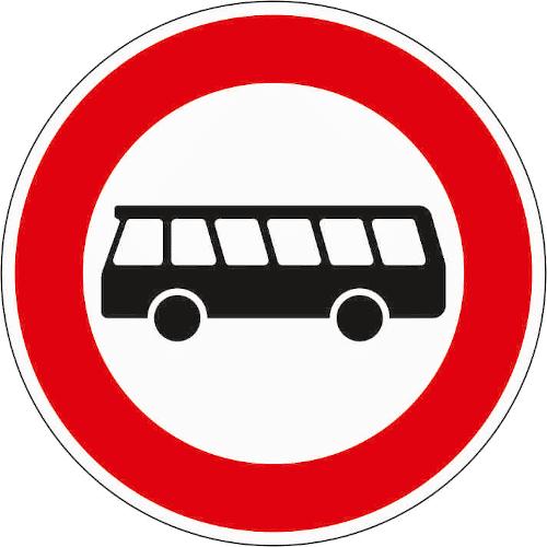 VZ 257-54: Verbot für Kraftomnibusse