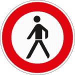 Zeichen 259: Verbot für Fußgänger