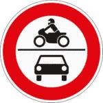 Zeichen 260: Verbot für Pkw und Krafträder