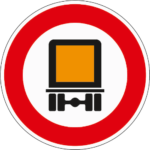Zeichen 261: Verbot für kennzeichnungspflichtige Kraftfahrzeuge mit gefährlichen Gütern