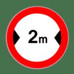 Zeichen 264: Verbot für breitere Fahrzeuge als angegeben