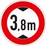 Zeichen 265: Verbot für höhere Fahrzeuge als angegeben