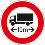 Zeichen 266: Verbot für längere Fahrzeuge als angegeben