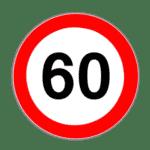 Zeichen 274: Verbot, schneller als angegeben zu fahren