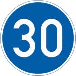 Zeichen 275: Mindestgeschwindigkeit