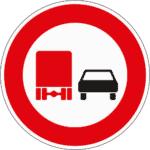 Zeichen 277: Überholen verboten für Lkw
