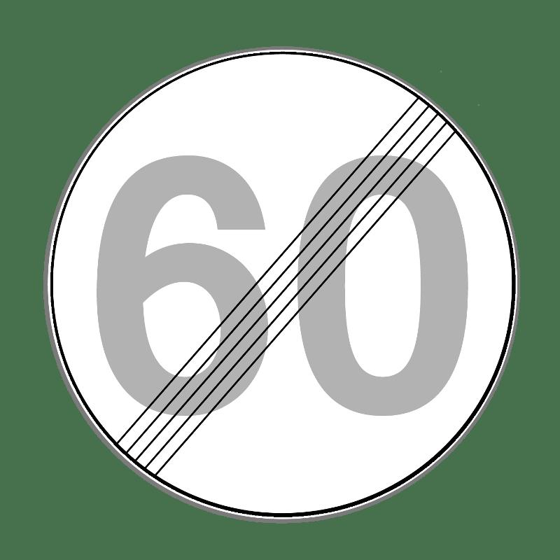 VZ 278: Ende der zulässigen Höchstgeschwindigkeit