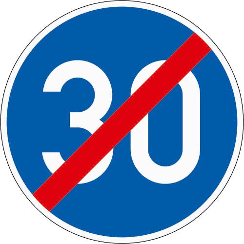 VZ 279: Ende der vorgeschriebenen Mindestgeschwindigkeit