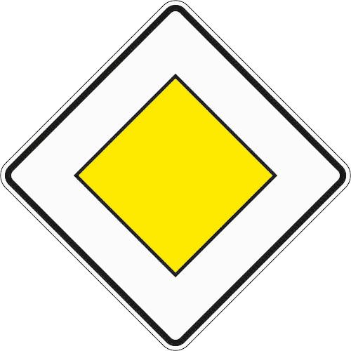 Zeichen 306: Vorfahrtstraße