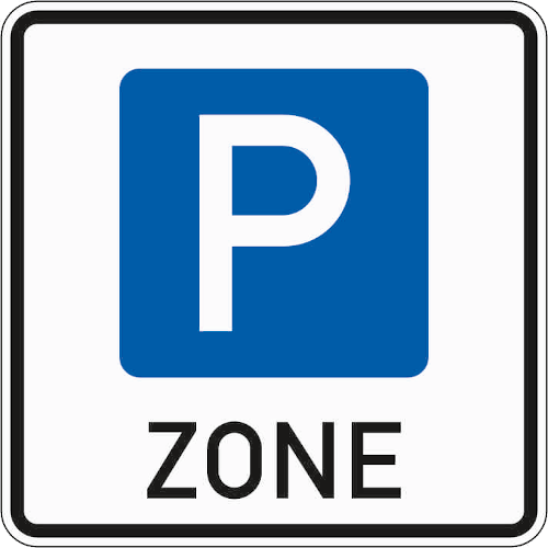 Zeichen 314-1: Parkzone