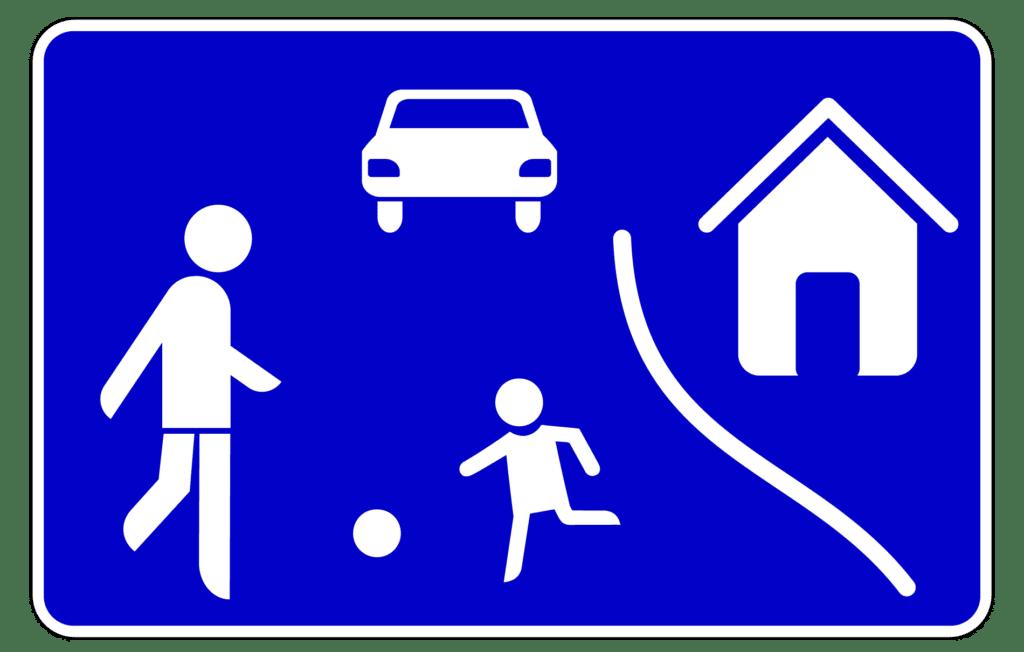 VZ 325-1: Beginn verkehrsberuhigter Bereich