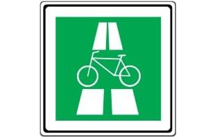 Das Verkehrszeichen 451 kennzeichnet künftig einen Radschnellweg.