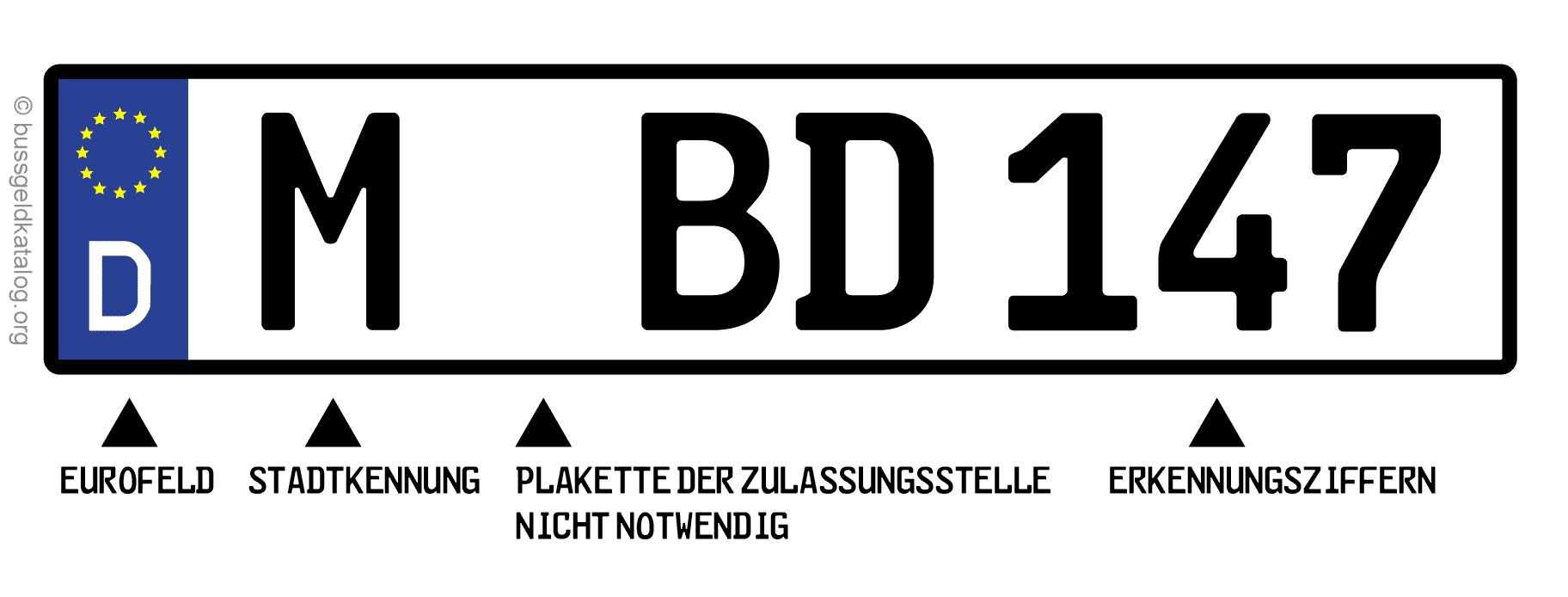 Kennzeichen für Fahrradträger: Auf Nummernschildern dürfen in der Regel keine Abdeckungen wie Folie angebracht werden.