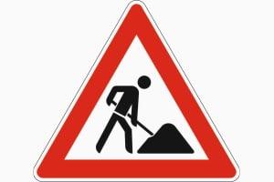 Achtung, Baustelle! Das Schild 123 mahnt Verkehrsteilnehmer zu erhöhter Aufmerksamkeit.