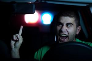 Agressivität bei der Verkehrskontrolle