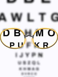 Umschreiben nach dem Augenlasern: Für den Führerschein ist ein Sehtest nötig.