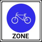 Beginn einer Fahrradzone