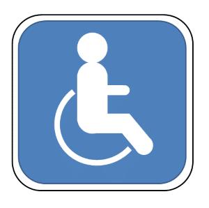 Nur ein blauer Behindertenparkausweis berechtigt zur Nutzung von Behindertenparkplätzen.