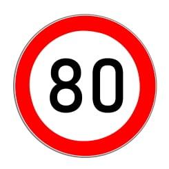 Drohen Blow-Ups wird die zulässige Höchstgeschwindigkeit auf der Autobahn meist auf Tempo 80 reduziert.