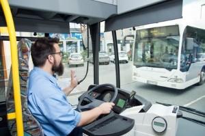 Ein Fahrer mit dem Busführerschein