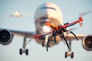 Unter anderem drohen Sanktionen aus dem Bußgeldkatalog, wenn eine Drohne den Flugverkehr stört.