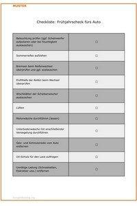 Frühjahrscheck fürs Auto: Checkliste