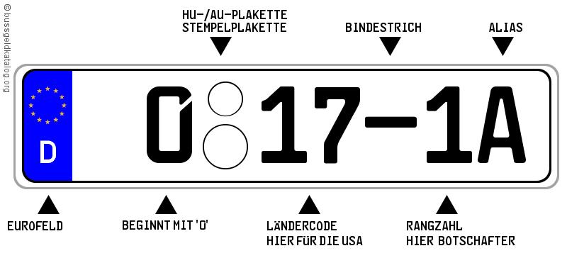 0-Kennzeichen für hohe Diplomaten