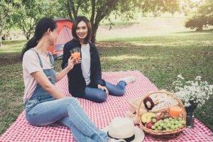 Ein einfaches kaltes Picknick ist unbedenklich. Wer hingegen draußen grillen will muss prüfen, ob im Park gegrillt werden darf.