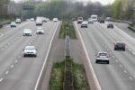 Dreispuriege Autobahn in Deutschland