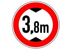 Hier ist die Durchfahrt für Fahrzeuge überhalb der abgebildeten Höhe untersagt.
