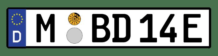 E-Auto: Das Kennzeichen endet mit einem E.