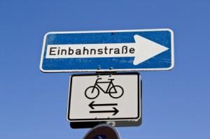 Freigabe für Fahrräder auf einer Einbahnstraße
