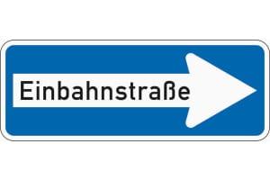 Einbahnstraße Schild