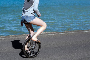 Was gilt es zu beachten, wenn ich mit einem Einrad fahren will?