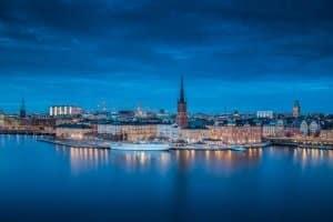 Stockholm ist besonders beliebt. Die Einreise nach Schweden ist für Deutsche unkompliziert.