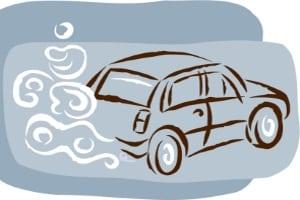 Ein Elektroauto stößt nahezu keine Schadstoffe aus.