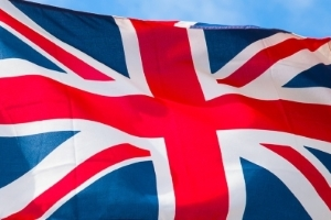 England: Die Flagge von UK